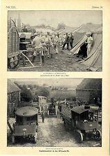 Kaisermanöver Ostmark Feldbäckerei Proviantautomobile Aufschlagen des Biwaks1902