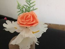 Rose button holes/corsage flowers roses wedding prom lots of different styles.