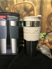 Bodum Vacuum Travel Mug S/S  /Sand 350ml + Tea Infuser Ball with Chain