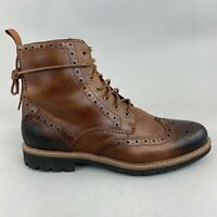 Clarks Brown Leather Ankle Lace Up Brogues Chukka Derset Walking Boots UK8.5 G