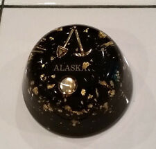 ALASKA PAPERWEIGHT GOLD FLAKES, MINING PICK, SHOVEL & PAN
