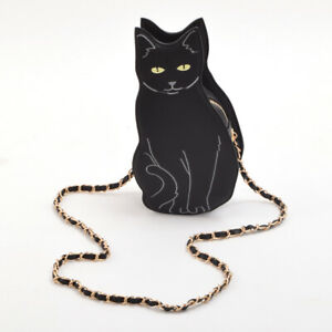 Black Cat Bag Single Shoulder Chain Cute Messenger Bag Women Fashion Cross Body