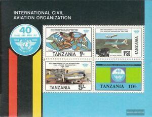 Tanzania Bloque 38 (edición completa) nuevo 1984 Aviación Civil (oaci)