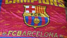 Bandera Flag Fahne Bandiera BARCELONA Signed by Players 2009 Campions Size XL