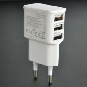Multi-Port Fast Quick Charge USB Travel Mains Wall Charger Adapter EU Plug BU
