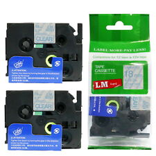 2/Pack 18mm Blue on Clear Tape for P-touch Model PT1900, PT-1900 Label Maker 3/4