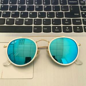Ray Ban Sunglasses RB3647N 51/22 Gold Frame, ICE Lens (WHITE RING),Pre-owned