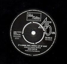 "DAVID RUFFIN  FOUR TOPS 7"" UK TAMLA MOTOWN NORTHERN SOUL 45 FREE UK P&P"