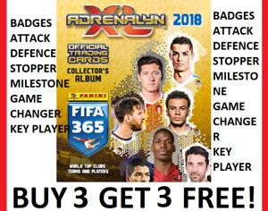 2019 FIFA 365 Adrenalyn - GOLD CLUB BADGES TRIO WALL KEY PLAYER STOPPER MILESTON