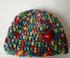 First size crochet baby hat multi colour