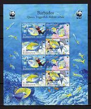 barbados ca 2006 barbade wwf poissons fish vissen fische marina queen ms8v mnh