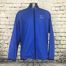 Adidas Golf Men's Lightweight Jacket Vented Climaproof Blue *LOGO* Size XL