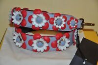 AUTHENTIC NEW FENDI FLORAL LEATHER SHOULDER STRAP FOR BAG