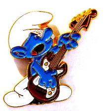 """Bande dessinée pin/broches-SCHTROUMPF/SMURF """"Guitariste""""/© Peyo"""