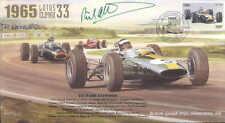 1965c LOTUS 33, BRM P261 FERRARI 158 SILVERSTONE F1 cover signed RICHARD ATTWOOD