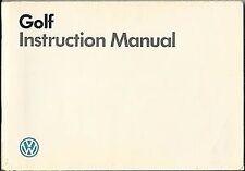 Golf Volkswagen Car Owner & Operator Manuals