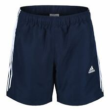 adidas CHELSEA SHORTS 3 STRIPE HOLIDAY CLIMALITE FOOTBALL GYM S-XXL INNER MESH