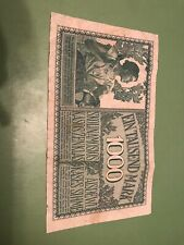 Germany-Lithuania 1000 Mark Banknote,4.4.1918 Circulated Condition.