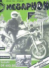 Motorradzeitschrift Megaphon  3/1996 mit MuZ Skorpion und Suzuki 850 SE