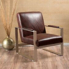 Cheshire Stainless Steel Frame Leather Chair