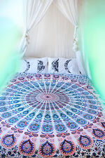 Indian Ethnic Decor Hippie Peacock Mandala Printed Bohemian Twin Size Tapestry