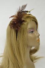 Bebe headband hair accessories brown feathers