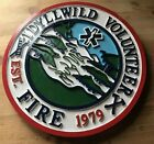 Fire Department Idyllwild Volunteer 3D routed wood patch plaque sign Custom