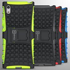 For Sony Xperia XA1 Case Hard Protective Kickstand Armor Dual Layer Phone Cover