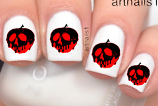 Disney Poison Apple Snow White Nail Art Water Decal Sticker Mani Salon Polish