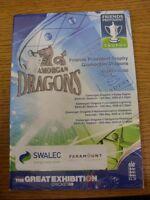12/05/2009 Cricket Programme: Glamorgan v Essex & 15/05/2009 Lancashire & 19/05/