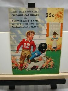 Chicago Cardinals vs. Cleveland Rams football 9/13/42 Very Rare