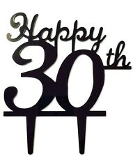 Happy 30th Birthday Anniversary Number Cake Topper Party Decoration Favor Sign