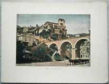 ca.1895 French photochrom ROAD CONDAMINE TO MONTE CARLO, MONACO (#247)