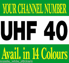 200mm Custom Accessories Stickers UHF Radio Channel For Caravan RV Motorhome