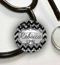 Stethoscope ID Tag Personalized -Chevron- Nurse, CNA, LPN, ETC