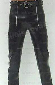 100% Latex Rubber Pants 0,8mm Hose Jeans Schlaghose Catsuit Ganzanzug Kostüm HOT