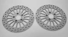 """2000'-2005' FXDLI HARLEY 11.5"""" FRONT & REAR BRAKE ROTORS W/CHROME MOUNTING BOLTS"""