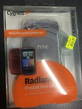 HTC Desire S Frosted TPU Flexi-Case - Clear + Screen Guard CY0396CHRAD Brand New