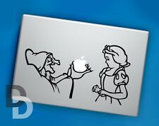 Snow white and witch Macbook decal, Macbook stencil sticker, Cartoons decals