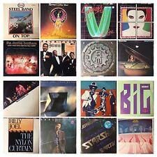 CLASSIC ROCK & ROLL Music Albums 33rpm  LP Vinyl Record (Auction #2)  $6/each LP