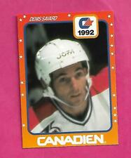 VERY RARE CANADIENS DENIS SAVARD JOFA PROMO  CARD  (INV# C3173 )