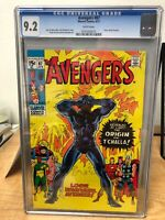 Avengers #87 (1971) CGC 9.2 WHITE - Black Panther Origin - Vibrant Color!