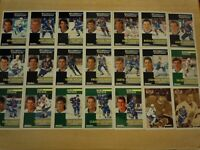 1991-92 Pinnacle French QUEBEC NORDIQUES Team Set - 21 Cards - SAKIC SUNDIN