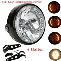 "Motorrad ATV Quad  6.5"" LED Haupt Scheinwerfer mit Roller Blinker + Halter"