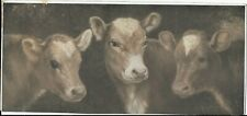 R. Atkinson Fox 2 Prints, 3 Cows Or Calf's Are Sepia Color, 5 Work Horses, 1920s