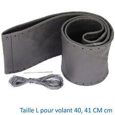 COUVRE VOLANT CHATENET CADILLAC CHERY CHEVROLET CITROEN CUIR GRIS 40 41 CM