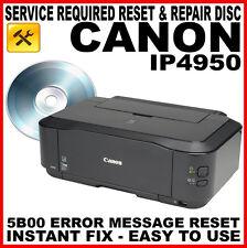 Canon Pixma iP4950 - Fault Reset Disc: Service Repair Error Fix