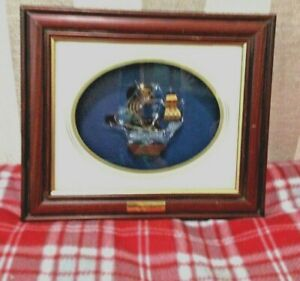 Art Glass Sculpture In Deep Frame Of H M S Discovery