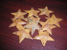 "Miniature Rusty Metal Barn Stars 1.5"" Set 10 Hole in top Crafters !"