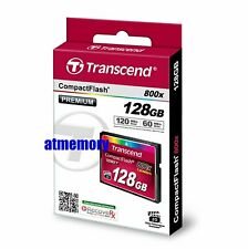 Transcend 128GB CF 800x Compact Flash Memory Card Retail Pack 120MB/s Genuine US